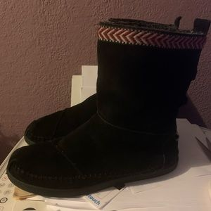 toms nepal winter boots black size 7.5
